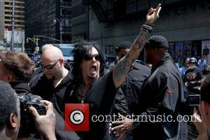 Nikki Sixx of Motley Crue  outside the Ed Sullivan Theater for the 'Late Show With David Letterman' New York...