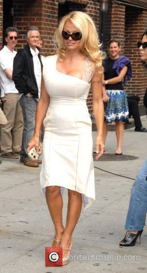 Pamela Anderson arrives at the Ed Sullivan Theatre for the 'Late Show With David Letterman' New York City, USA -...