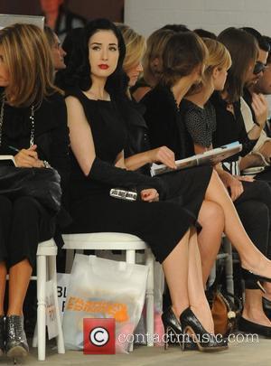 Dita Von Teese London Fashion Week Spring/Summer 2009 - Fashion Fringe - Front Row London, England - 18.09.08