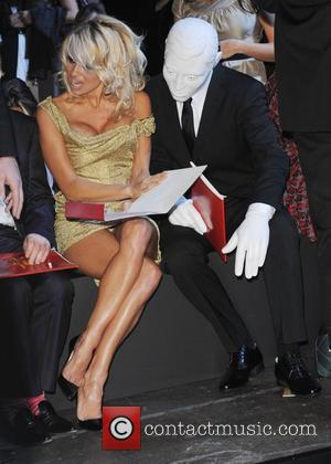 Pamela Anderson  London Fashion Week Spring/Summer 2009 - Vivienne Westwood: Red Label - front row at Earls Court London,...