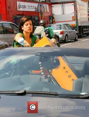 Lily Allen visits Argos to buy a lawnmower London, England - 24.07.08