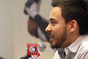 Mike Shinoda of Linkin Park MLB Donate $25,000 to Linkin Park's Music For Relief Program held at Champs New York...