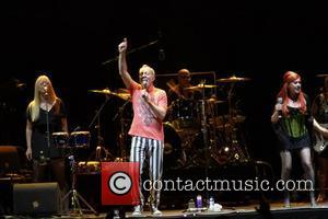 Catdy Wilson, Fred Schneider and Kate Pierson from the B52's,  Lisbon Callatg festival at Pavilhao Atlantico Lisbon, Portugal -...