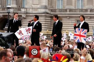 Il Divo The Olympic handover celebrations - The Visa 2012 Party, held in The Mall. London, England - 24.08.08