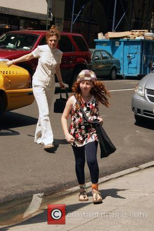 Sandra Bernhard and her daughter Cicely Yasin  arrive at a Kabullah service New York City, USA - 28.06.08
