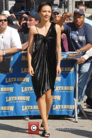 Maggie Gyllenhaal and David Letterman
