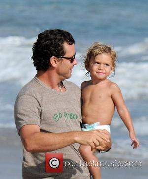Gavin Rossdale and Son Kingston Rossdale On Malibu Beach