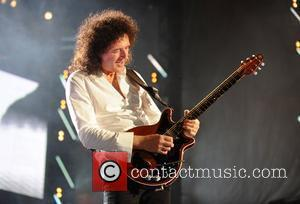 Brian May and Nelson Mandela