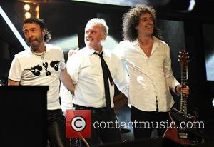 Paul Rodgers, Brian May and Roger Taylor of Queen  appearing at the '46664' concert honouring Nelson Mandela's 90th birthday...
