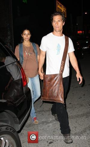 Matthew Mcconaughey and Pregnant Girlfriend Camila Alves Leaving