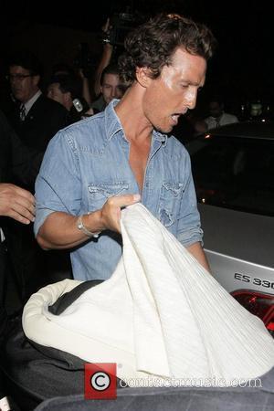 Matthew McConaughey and baby Levi