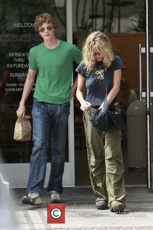 Meg Ryan and her son Jack Henry Quaid shop at Fred Segal in Santa Monica Los Angeles, California - 31.08.08
