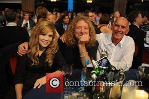 Alison Krauss, Robert Plant and Bill Curbishley 2008 Mercury Music Prize held at the Grosvenor Hotel - Inside London, England...