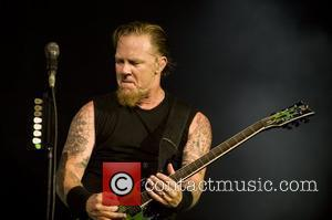 James Hetfield Metallica performing a special album lunch concert at the O2 Arena London, England - 15.09.08