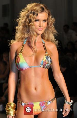 Model Joanna Krupa  at the Ed Hardy Swimwear 2009 collection during Mercedes-Benz Fashion Week at the Raleigh Hotel...
