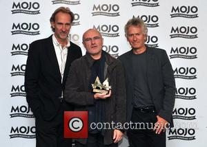Genesis, Mike Rutherford, Phil Collins and Tony Banks Mojo Honours List held at the Brewery - Press Room London, England...