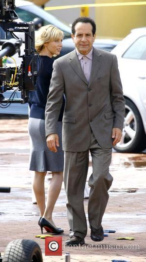 Traylor Howard and Tony Shalhoub on the film set for USA's 'Monk' Los Angeles, California - 23.07.08