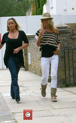 Davinia Taylor and Jenny Frost returning to Taylor's home before meeting Kate Moss and Jamie Hince and taking a cab...