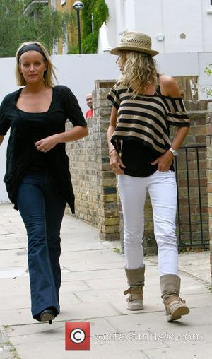 Davinia Taylor and Jenny Frost  returning to Taylor's home before meeting Kate Moss and Jamie Hince and taking a...