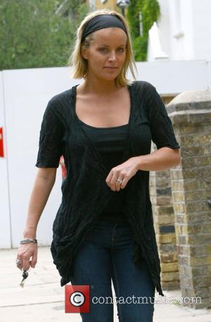 Davinia Taylor  returning to her home before meeting Kate Moss and Jamie Hince and taking a cab to Moss'...