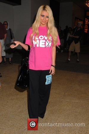 Aubrey O'Day of Danity Kane outside the MTV TRL Studios in Times Square New York City, USA - 19.08.08