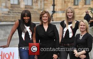Naomi Campbell, Sarah Brown and Jade Parfitt