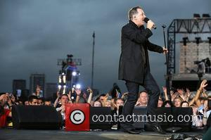 Jim Kerr of Simple Minds appearing at the '46664' concert honouring his 90th birthday at Hyde Park London, England -...