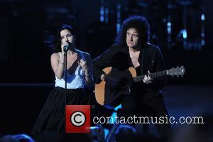Andrea Corr and Brian May perform live at Nelson Mandela's 90th Birthday Concert in Hyde Park. London, England - 27.06.08