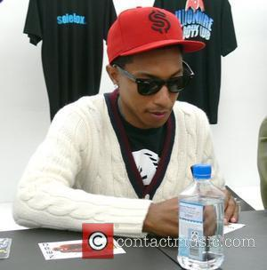 Pharell Williams N.E.R.D autograph session at Sneaker Store Solebox Berlin, Germany - 27.06.08