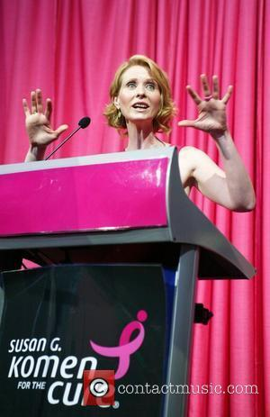Cynthia Nixon speaks at the 2008 Susan G. Komen National Race for the Cure event at the Newseum Washington DC,...