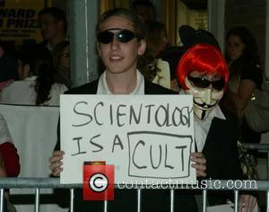 Anti-scientology Demonstrators, Church Of Scientology, Katie Holmes and Tom Cruise