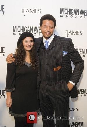 Terrence Howard and Ilsey Juber Red Carpet Arrivals for the Niche Media Michigan Avenue Launch Party hosted by Cindy Crawford...