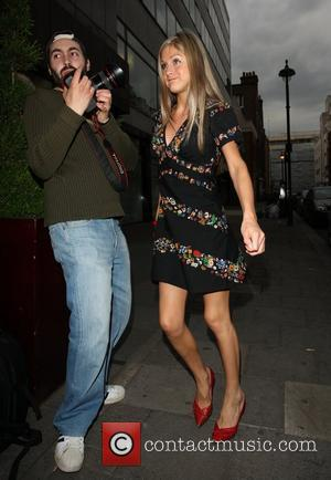 Nikki Grahame walking down Burlington Street during a night out in town London, England - 11.06.08