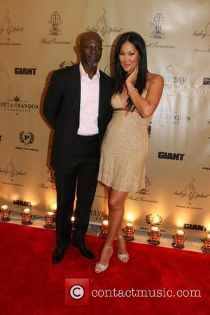 Djimon Hounsou and Kimora Lee Simmons Mercedes-Benz Fashion Week Spring 2009 - Baby Phat Afterparty - held at The Plaza-...