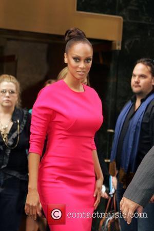 Tyra Banks and Calvin Klein