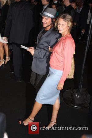 Lauren Hutton and guest Mercedes-Benz Fashion Week Spring 2009 - Marc Jacobs - arrivals - held at the Armory New...