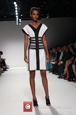 Liya Kebede Mercedes-Benz Fashion Week Spring 2009 - Narciso Rodriguez - runway New York City, USA - 07.09.08