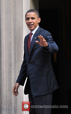 US presidential candidate Barack Obama arrives at 10 Downing Street for talks with British Prime Minister Gordon Brown London, England...