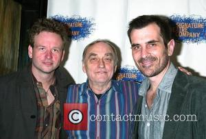 Dallas Roberts, Lanford Wilson and Ty Burrell at the after party for 'The Occupant' at the West Bank Cafe. New...