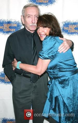 Edward Albee and Mercedes Ruehl at the after party for 'The Occupant' at the West Bank Cafe. New York City,...