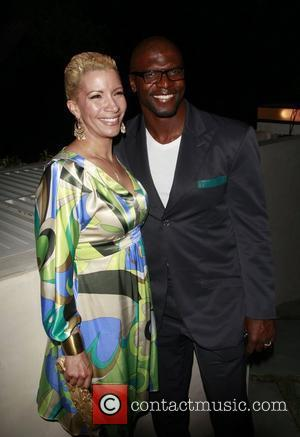 Terry Crews and his wife Rebecca Crews Op Launch of their new OP Campaign OPen Road Private residence Beverly Hills...