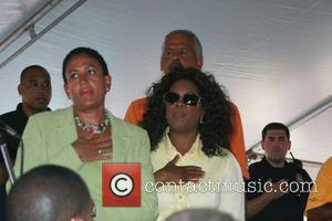 Oprah Winfrey and Stedman Graham 20th Annual Whitesboro Reunion Festival at the Martin Luther King Community Center Whitesboro, New Jersey...
