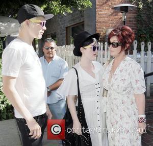 Luke Howell and Kelly Osbourne