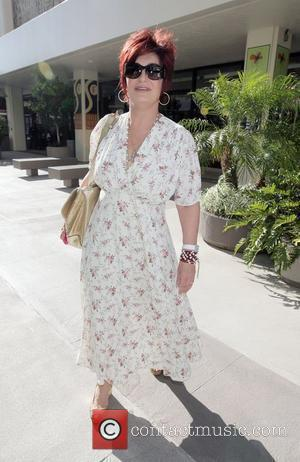 Sharon Osbourne at the Chanel Boutique in Beverly Hills after eating at the Ivy with her daughter and her boyfriend...
