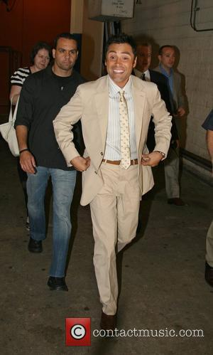 Oscar De La Hoya leaving ABC Studios after appearing on 'Live with Regis and Kelly' New York City, USA -...