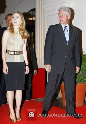 Bill Clinton and his daughter Chelsea Osgar Awards at Leipziger Rathaus city hall - Red carpet arrivals Leipzig, Germany -...