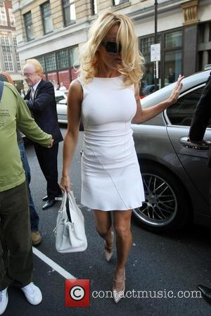 Pamela Anderson  seen arriving outside the Radio 1 Studios in west London. London, England - 18.09.08