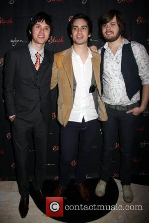 Ryan Ross, Brendon Urie and Spencer Smith Panic At The Disco celebrate their birthdays at Blush Boutique Nightclub  Las...