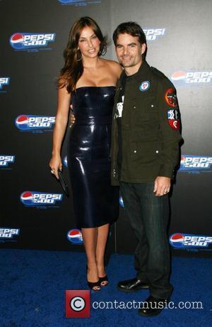 Ingrid Vandebosch and driver Jeff Gordon  Pepsi 500 Running Wide Open at Avalon Los Angeles, California - 27.08.08