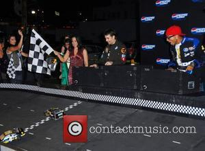 Jeff Gordon and Pharrell Williams Pepsi 500 Running Wide Open at Avalon Los Angeles, California - 27.08.08